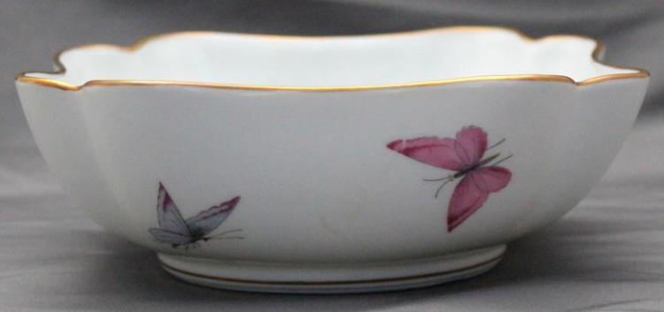 VINTAGE LIMOGES BUTTERFLY BOWL
