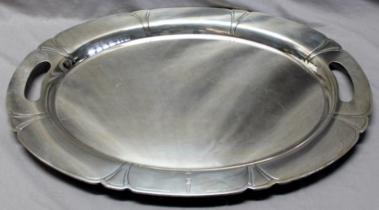 MONUMENTAL STERLING SILVER TRAY - BOSTON