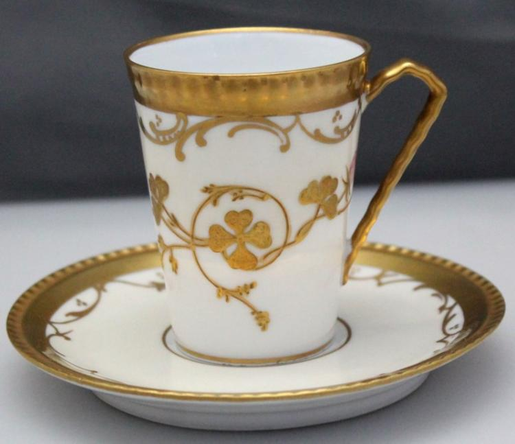ANTIQUE LIMOGES VICTORIAN CHOCOLATE CUP