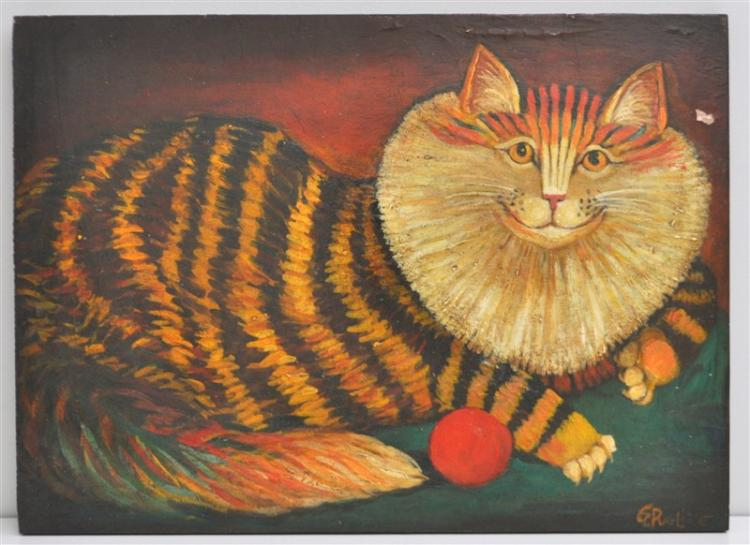 FOLK ART HAPPY CAT - G. PUGLIESE