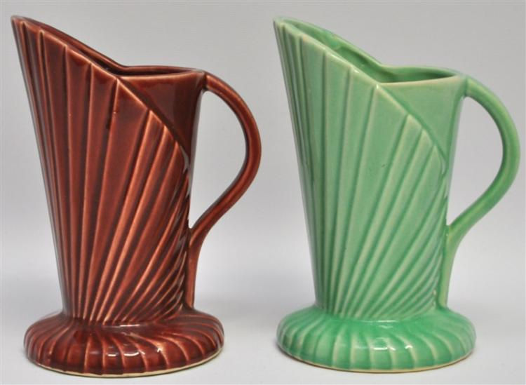 2 ART DECO USA POTTERY PITCHERS
