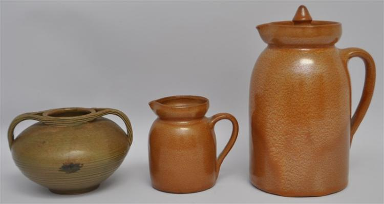 3 pc D.X. GORDY & GEORGIA POTTERY VASE - PITCHERS