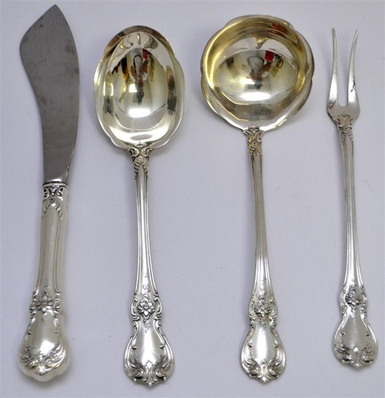 4 STERLING TOWLE OLD MASTER LADLE - SUGAR - MORE