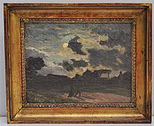 ALEXANDRE-GASTON GUIGNARD (1848-1922) PAYSAGE NOCTURNE OIL