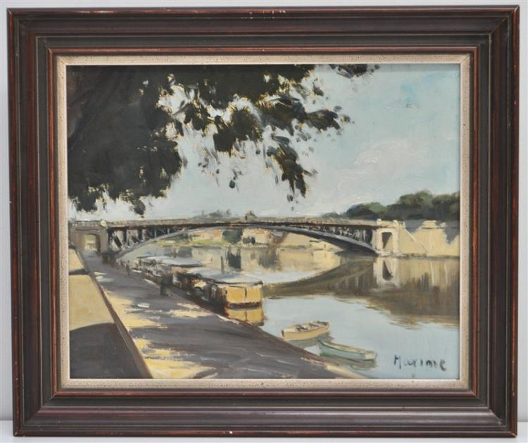 FRENCH OIL ON BOARD BRIDGE AT NANTES - MAXIME