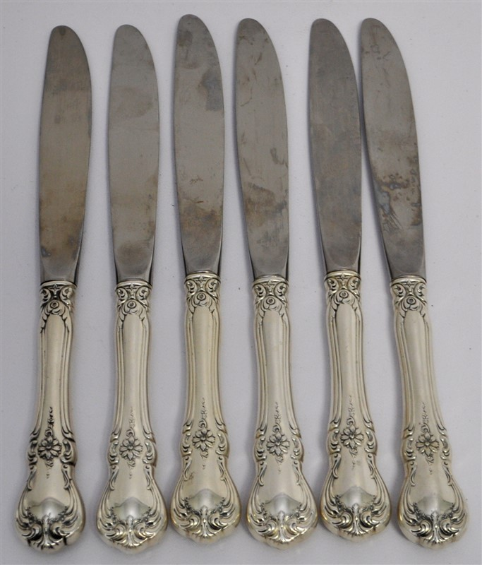 6 STERLING TOWLE OLD MASTER KNIVES