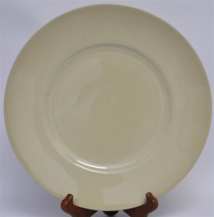 10 WEDGWOOD DRABWARE DINNER PLATES