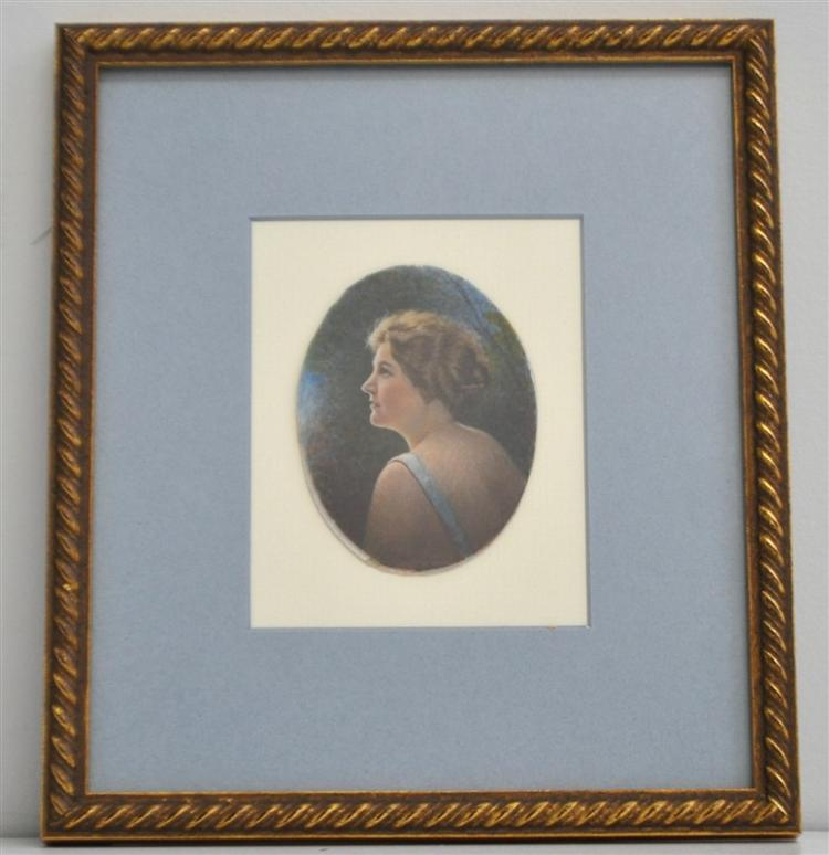 EXCEPTIONAL OIL PORTRAIT MINIATURE 1920s