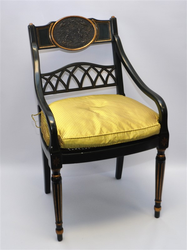 REGENCY STYLE DIRECTOIRE CHAIR LION / UNICORN