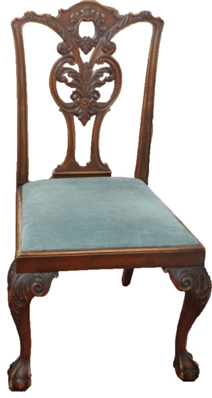 FINE QUALITY ENGLISH CHIPPENDALE SIDE CHAIR