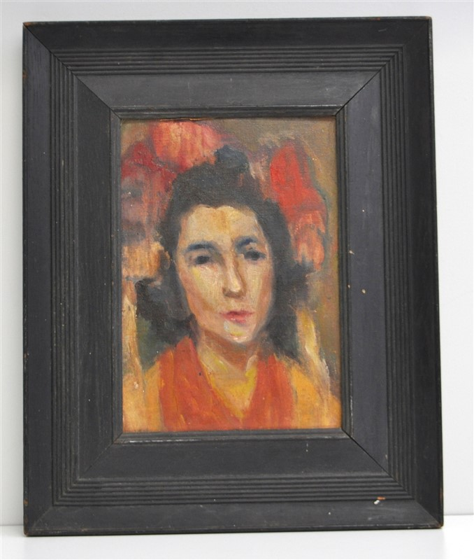 POST IMPRESSIONIST OIL PORTRAIT OF A WOMAN