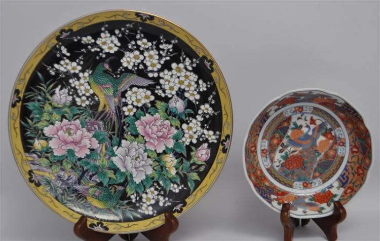 2 JAPANESE PORCELAIN PLATE + BOWL