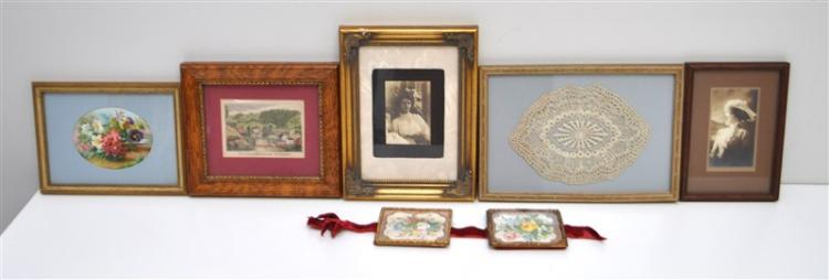 6 VICTORIAN FRAMED LACE - PHOTOS - CARDS - ENGRAVING