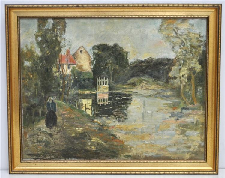 19TH C. IMPRESSIONIST OIL ON CANVAS