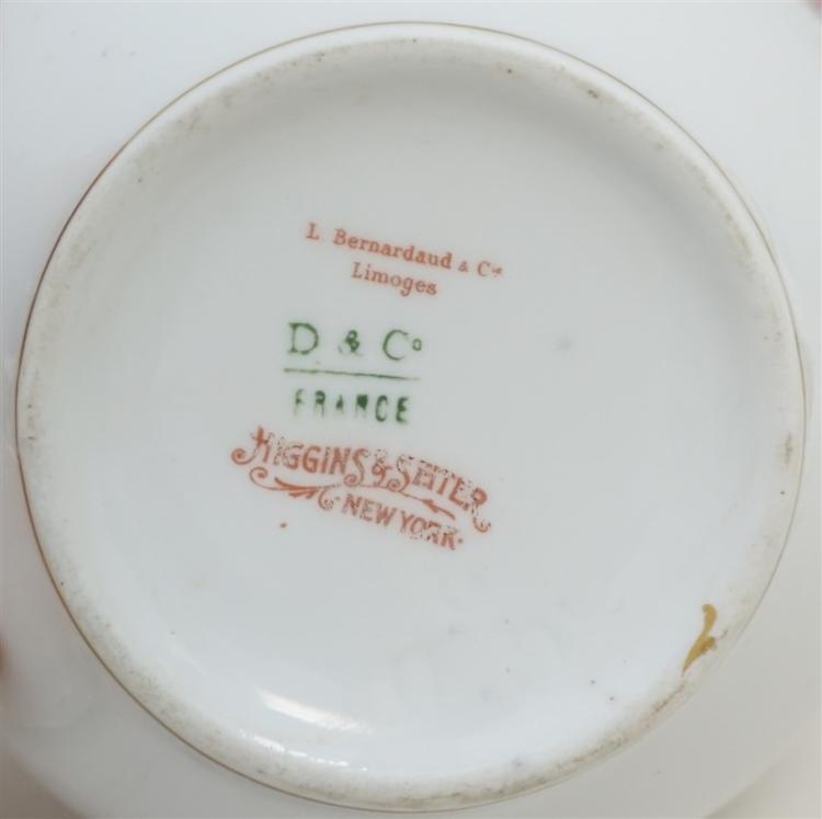 antique c 1900 limoges porcelain tea set. Black Bedroom Furniture Sets. Home Design Ideas