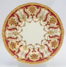 12 1892 ROYAL CROWN DERBY DAVIS COLLAMORE PLATES