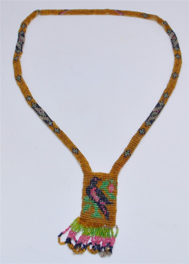 ART DECO 1920S MICRO BEADED FLAPPERS NECKLACE