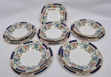 11 pc ROYAL CAULDON ENGLISH VICTORIA PLATES ETC