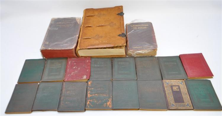 19 pc ANTIQUE COLLECTIBLE BOOKS