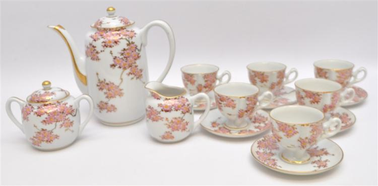 JAPANESE PORCELAIN CHERRY BLOSSOM TEA SET