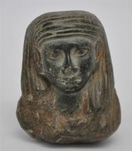 EGYPTIAN BLACK STEATITE USHABTI BUST