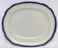 LARGE C. 1810 FEATHER EDGE STAFFORDSHIRE PLATTER
