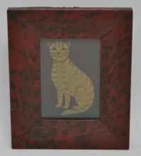 FRAMED HP AMERICAN FOLK ART CAT