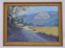 JOHN L. WELLINGTON (1878-1965) OIL - MOUNTAIN VIEW