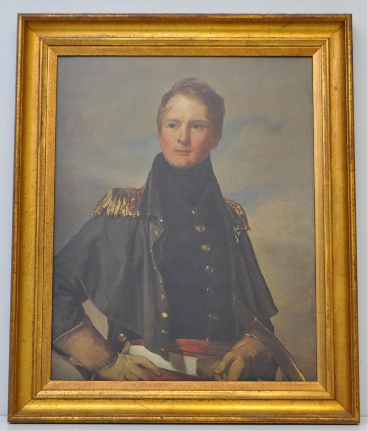FRAMED MAJOR THOMAS BIDDLE PORTRAIT PRINT