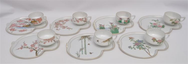 14pc KOSHIDA JAPAN LITHOPANE SNACK SET