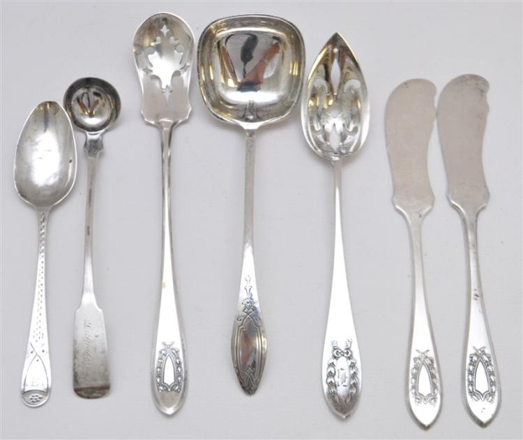 7 pc STERLING SILVER LADLES - BUTTERS - MORE
