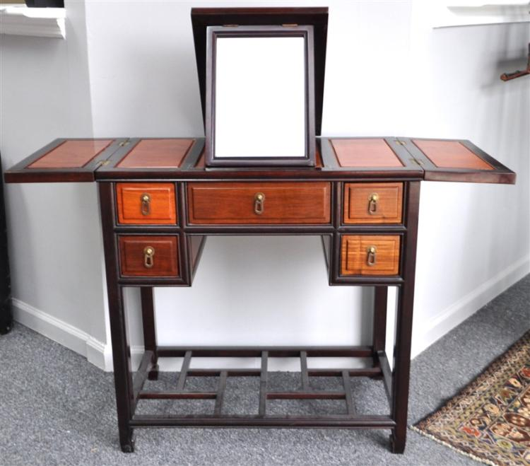 CHINESE HARDWOOD VANITY TABLE / POUDREUSE
