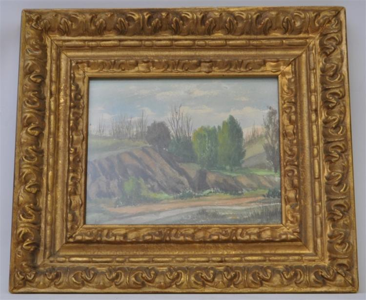 ORIGINAL WATERCOLOR LANDSCAPE ORNATE FRAME