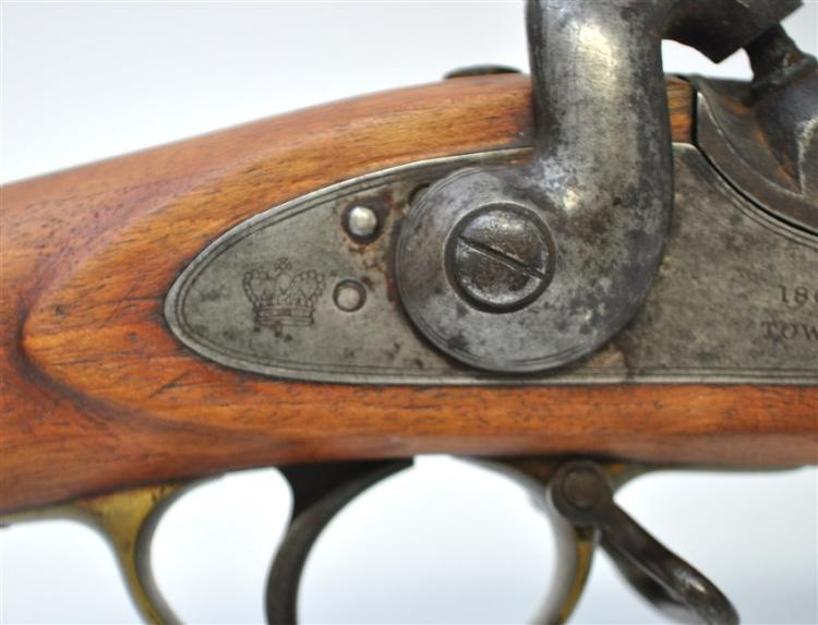 c. 1853 3-BAND TOWER ENFIELD RIFLE w/ BAYONET