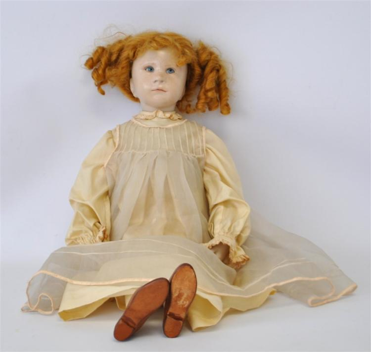 WAX OVER PORCELAIN ARTIST BRIGITTE DeVAL DOLL