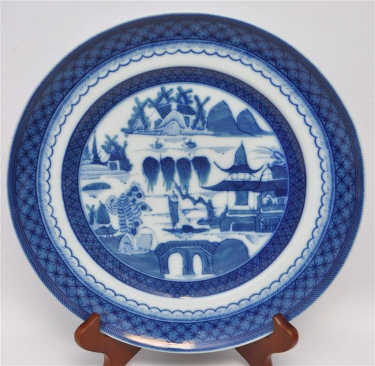 8 MOTTAHEDEH BLUE CANTON DINNER PLATES