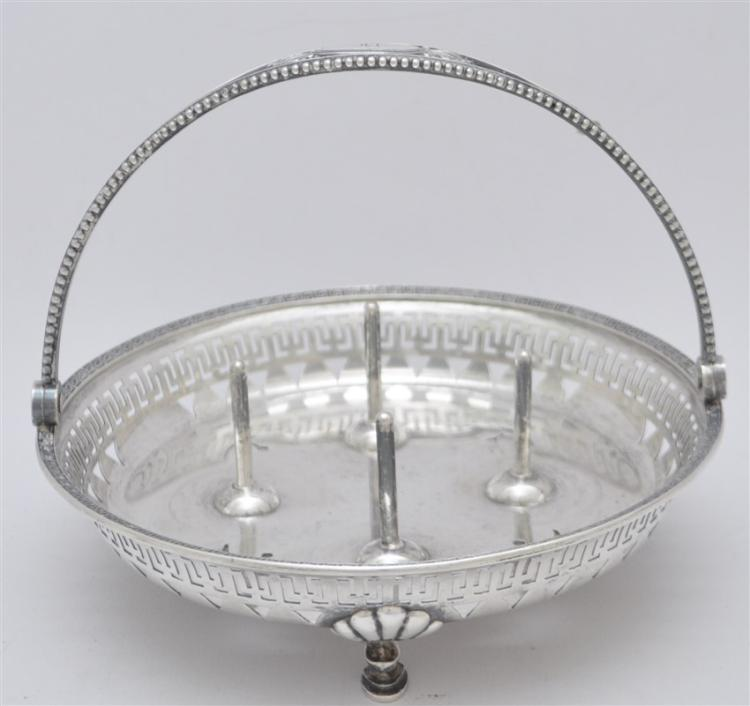 RARE TIFFANY STERLING SPOOL HOLDER BASKET