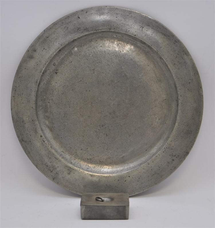 2 pc TOWNSEND & COMPTON C. 1801 PEWTER CHARGER