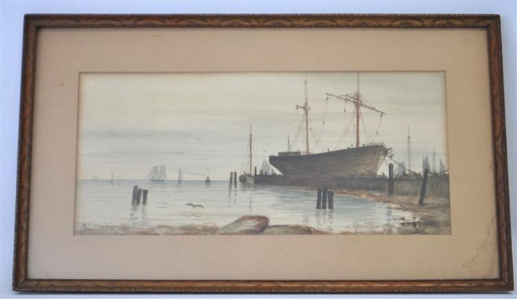 19th c. CHARLES C. MURDOCH WATERCOLOR BOSTON