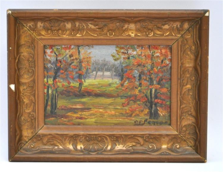 C.F SENIOR c. 1890 FRAMED OIL ON BOARD
