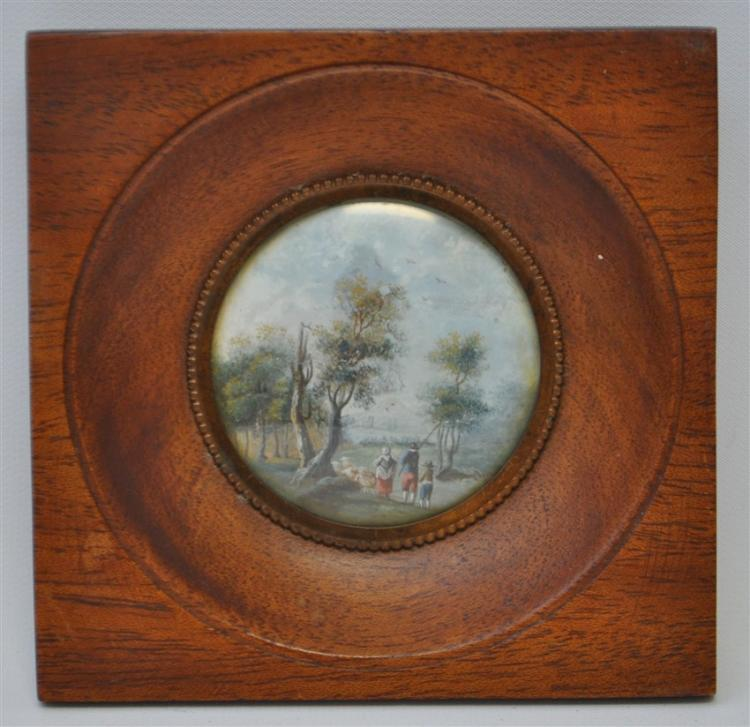 19th c. ENGLISH PASTORAL MINIATURE