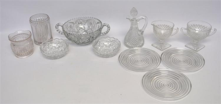 11 pc EAPG & VINTAGE GLASS MANHATTAN