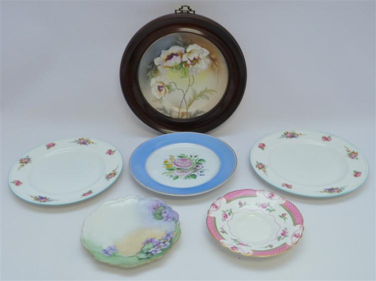 6 PC ROYAL DOULTON & HAND PAINTED PLATES