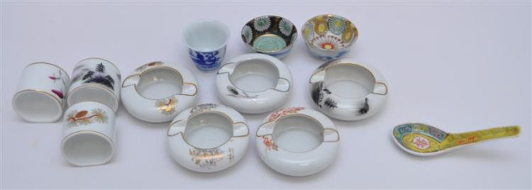 12 pc VINTAGE JAPANESE ARITA PORCELAIN + MORE