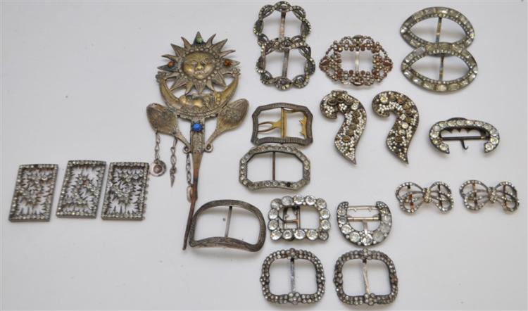 LOT ANTIQUE VINTAGE BUCKLES