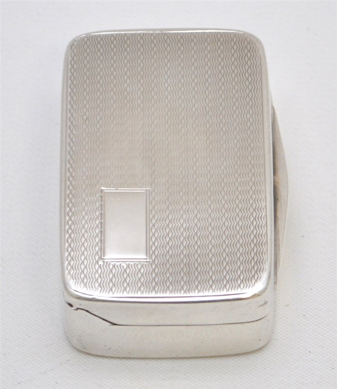 STERLING SILVER ENGLISH SNUFF BOX