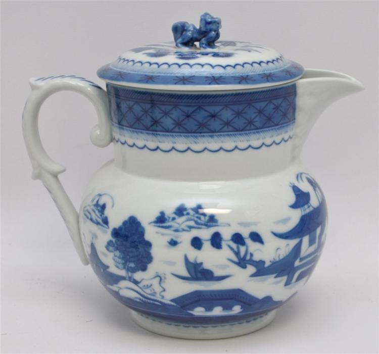 MOTTAHEDEH BLUE CANTON PITCHER AND LID