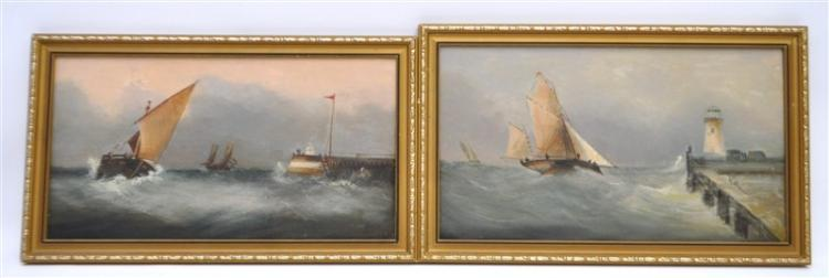 2 VINTAGE MARITIME OIL PAINTINGS