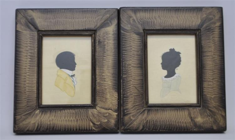 PAIR SUSAN B. ANDERSON SILHOUETTES