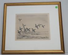 ROLAND CLARK SIGNED ETCHING